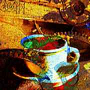 Nothing Like A Hot Cuppa Joe In The Morning To Get The Old Wheels Turning 20130718 Art Print