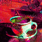Nothing Like A Hot Cuppa Joe In The Morning To Get The Old Wheels Turning 20130718m43 Art Print