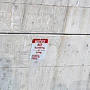 Notice Sign Art Print