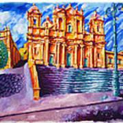 Noto Cathedral Sicily Art Print