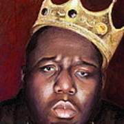 Notorious Big Portrait - Biggie Smalls - Bad Boy - Rap - Hip Hop - Music Art Print