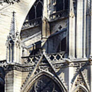 Notre Dame Cathedral Architectural Details Art Print