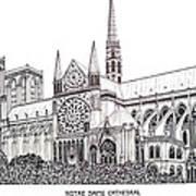 Notre Dame Cathedral - Paris Art Print by Frederic Kohli