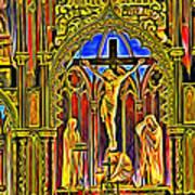 Notre Dame Color Art Print