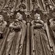 Notre Dame Facade Detail Art Print
