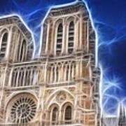 Notre Dame Fractal Art Print