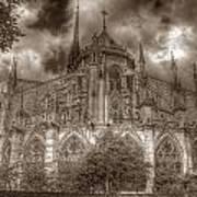 Notre Dame From East Garden Art Print