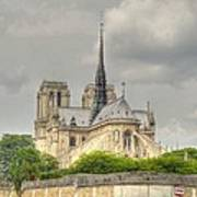 Notre Dame From The Seine Art Print