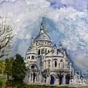 Sacre Coeur In Paris Art Print