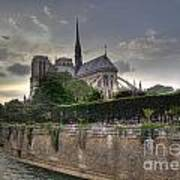 Notre Dame On The Seine Art Print