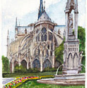Notre Dame Paris In Spring Art Print