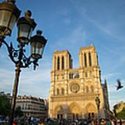 Notre Dame Tourists Art Print