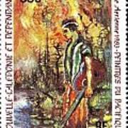 Nouvelle Caledonie Island Stamp Art Print