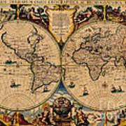 Nova totius terrarum orbis geographica ac hydrographica tabula old nova totius terrarum orbis geographica ac hydrographica tabula old world map poster gumiabroncs Gallery