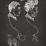 Novelty Wig Patent Artwork Gray Art Print