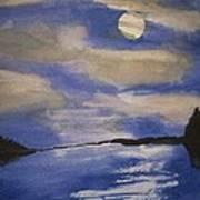 November Moon Art Print