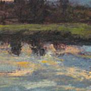 November Reflection - Hudson Valley Art Print by Gregory Arnett