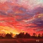 November Sunset  Art Print