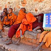 Novice Buddhist Monks Art Print