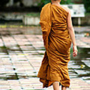 Novice Monk Of Chedi Luang Art Print