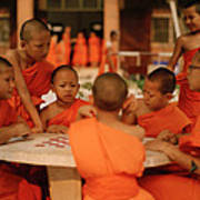 Novice Monks Art Print