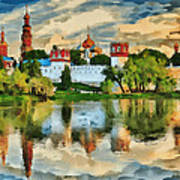 Novodevichy Monastery In Moscow Art Print