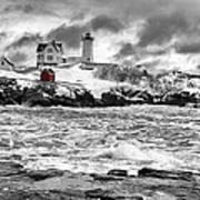 Nubble Lighthouse After The Storm Art Print