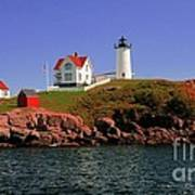 Nubble Lighthouse-cape Neddick Art Print