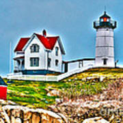 Nubble Lighthouse Cape Neddick Maine 2 Art Print