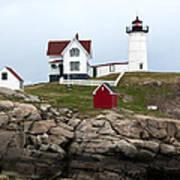 Nubble Lighthouse Cape Neddick Maine 4 Art Print