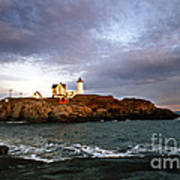 Nubble Lighthouse Print by Skip Willits