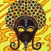 Nubian Modern Afro Mask Art Print