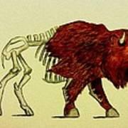 Nuclear Buffalo Art Print