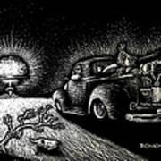 Nuclear Truck Art Print