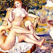 Nude Bathers Art Print