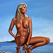 Nude Blond Beauty Art Print