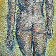 Nude Brunet Art Print