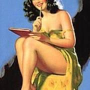 Nude Brunette II Art Print