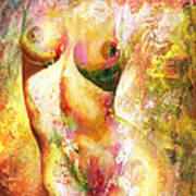 Nude Details - Digital Vibrant Color Version Art Print
