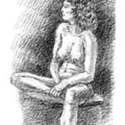 Nude Female Sketches 2 Art Print