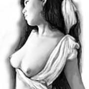 Nude Girl Drawing Art Sketch - 10 Art Print