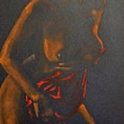 Nude In Darkness Art Print