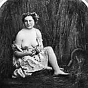 Nude In Field, C1850 Art Print
