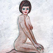 Nude In The White Room Art Print