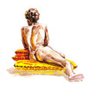 Nude Male Model Study Vi Art Print