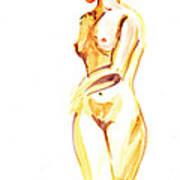 Nude Model Gesture II Art Print