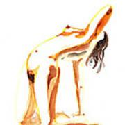 Nude Model Gesture IIi Art Print