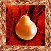 Nude N Beautiful Pear  Art Print