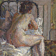Nude On A Bed, C.1914 Art Print