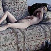 Nude On A Couch Art Print